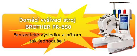 Domácí vyšívací stroj BROTHER PR-650